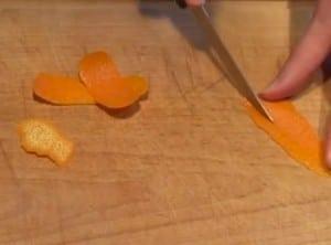 orange en lamelle