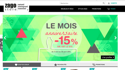 Code promo Zago Store réduction 2015