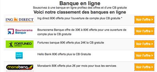 tableau comparatif banque en ligne