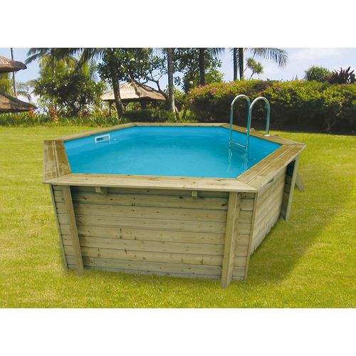 piscine acier bois