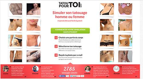simuler tatouage virtuel