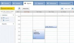la poste net mail calendrier