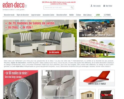 Code promo Eden Deco réduction 2019