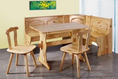 banquette de cuisine bois