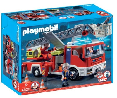 playmobil 4820 le camion de pompier grande echellle