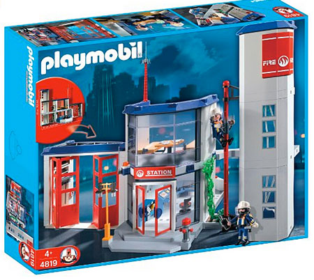 playmobil caserne pompier 4819